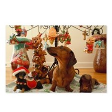 ChristmasDoxie2Laptop Postcards (Package of 8)