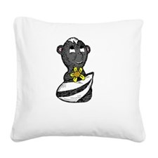 Little Stinker Skunk White SO Square Canvas Pillow