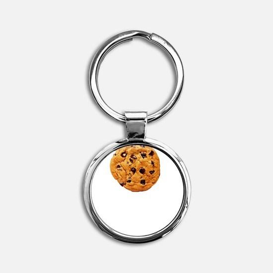 Cookie Inspector White SOT Round Keychain