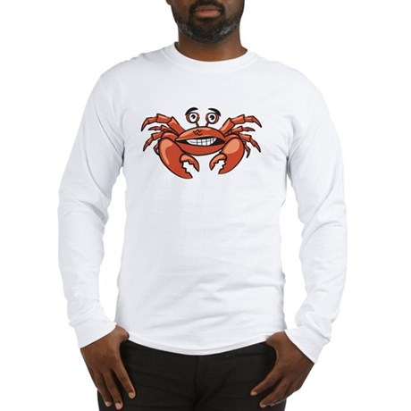 Crabby Crab White SOT Long Sleeve T-Shirt