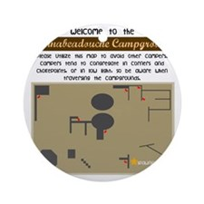 campgrounds Round Ornament