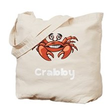 Crabby Crab White SOT Tote Bag