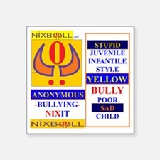 "YELLOW CHILD WHT 2 Square Sticker 3"" x 3"""