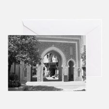 Moroccan Gate-BW-M Greeting Card