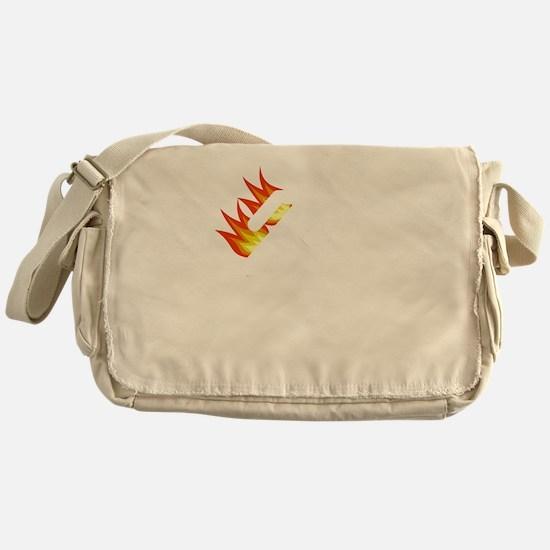 I Tried It At Home White SOT Messenger Bag