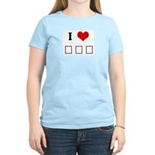I Love Σ Φ Ε Women's Pink T-Shirt