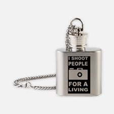 PHOTOGRAPHY GIFT FOR A LIVINGDBUTT Flask Necklace