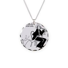4226_french_horn_cartoon Necklace
