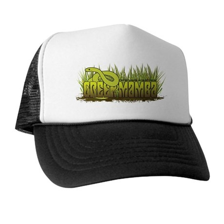 Green Mamba Snake Trucker Hat