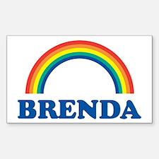 BRENDA (rainbow) Rectangle Decal