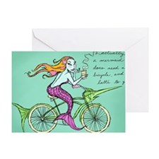 bike-maid Greeting Card
