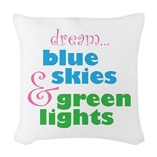 The Skydivers Dream Woven Throw Pillow