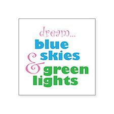 """The Skydivers Dream Square Sticker 3"""" x 3"""""""