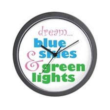 The Skydivers Dream Wall Clock