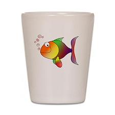 Im A Keeper Fish White SOT Shot Glass
