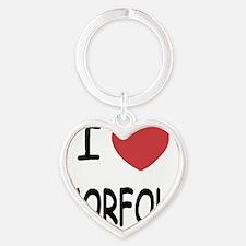 NORFOLK Heart Keychain