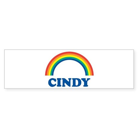 CINDY (rainbow) Bumper Sticker