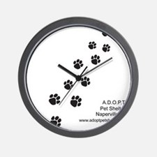7x7_apparel-paws Wall Clock