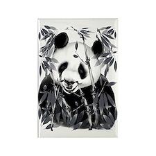 Grey Tone Panda Trans Rectangle Magnet