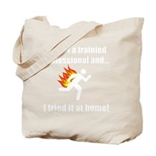 Trained Professional White SOT Tote Bag