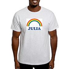JULIA (rainbow) Ash Grey T-Shirt