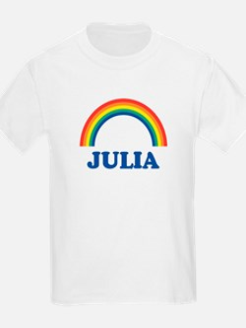 JULIA (rainbow) Kids T-Shirt