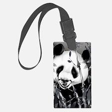 Large PosterpGrey Tone Panda2 Luggage Tag