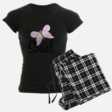 Social Butterfly Black SOT Pajamas