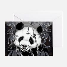 Wall Peel Grey Tone Panda 2 Greeting Card