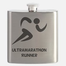 Ultramarathon Runner Back 2 Black Flask