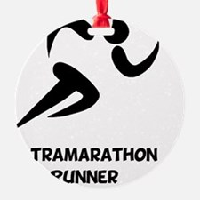 Ultramarathon Runner Back 2 Black Ornament