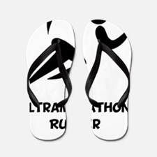 Ultramarathon Runner Back 2 Black Flip Flops