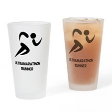 Ultramarathon Runner Back 2 Black Drinking Glass