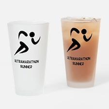 Ultramarathon Runner Back 2 Black Drinking Glass