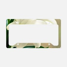EasterLilyFramed_laptop License Plate Holder