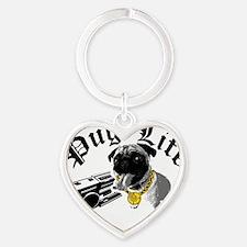 Pug Life Heart Keychain
