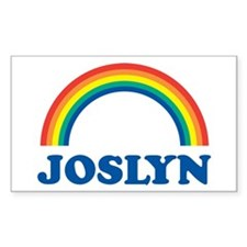 JOSLYN (rainbow) Rectangle Decal
