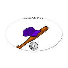 future baseball Oval Car Magnet