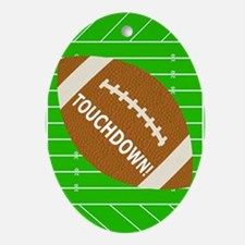 Football Theme iPad Hard Case Oval Ornament