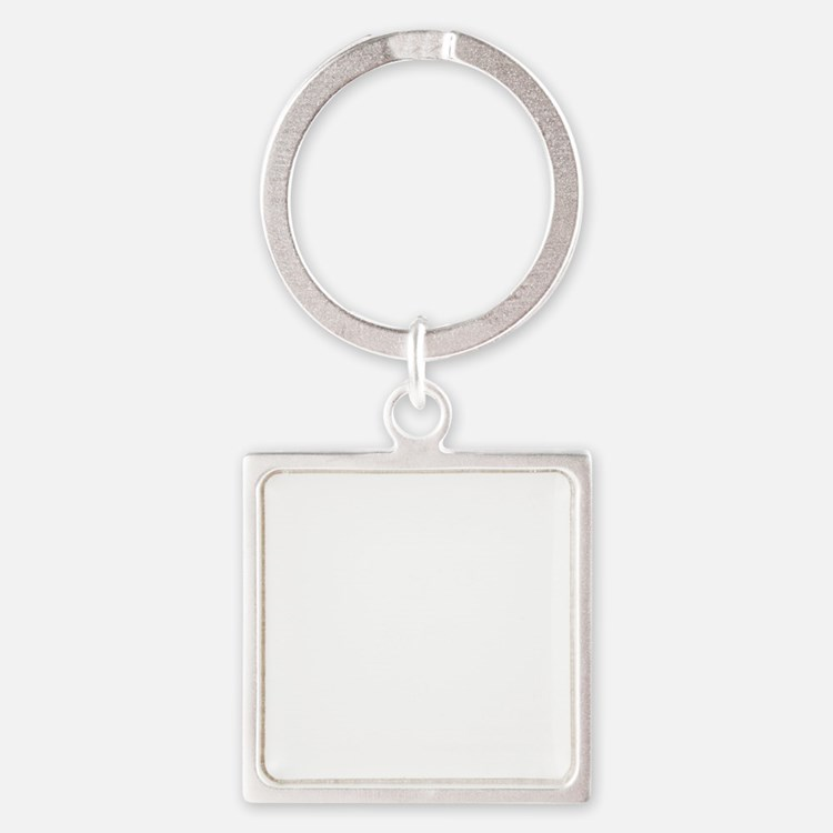 10x10_apparel-paws-blackbg Square Keychain
