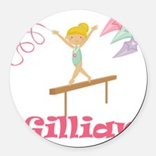gymnastics gillian Round Car Magnet