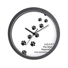 10x10_apparel-paws Wall Clock