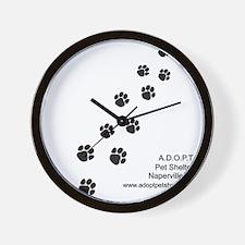 10x10_apparel-paws Wall Clock