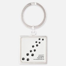 10x10_apparel-paws Square Keychain