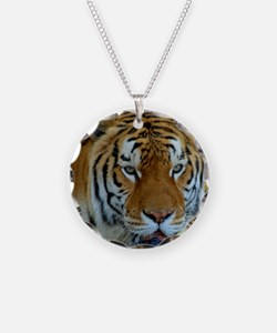 Tiger_drinking_glass Necklace