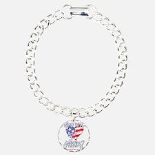 Heart white tee shirt Bracelet