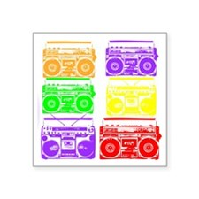 "boombox colors Square Sticker 3"" x 3"""