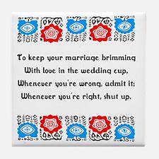 Wedding Cup Tile Coaster