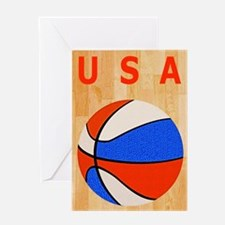 Basketball USA iPad Hard Case Greeting Card