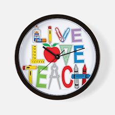 Live-Love-Teach Wall Clock